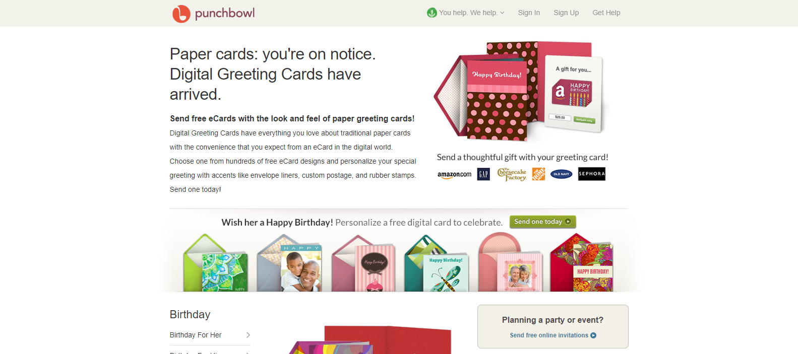 Punchbowls ECard Introduction Includes Movements For Opening The Envelope And Card Punchbowl Offers A Beautiful Cluster Of Free Ecards That Resemble