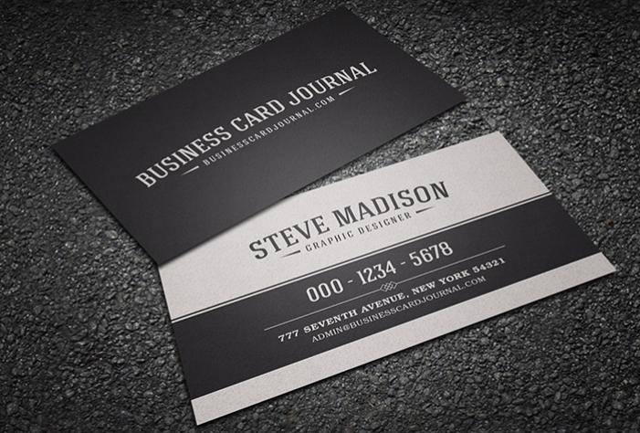 Top 20 free business card templates for 2018 templatebyte classic black white vintage business card reheart Gallery