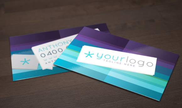 Top 20 free business card templates for 2018 templatebyte this free purple and blue business card vector layout is an extraordinary way to exhibit your business to customers this present cards blend of purple and reheart Images