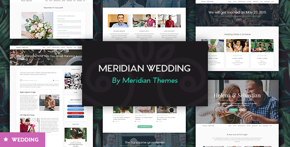 Meridian Wedding - A Beautiful Wedding WordPress Theme