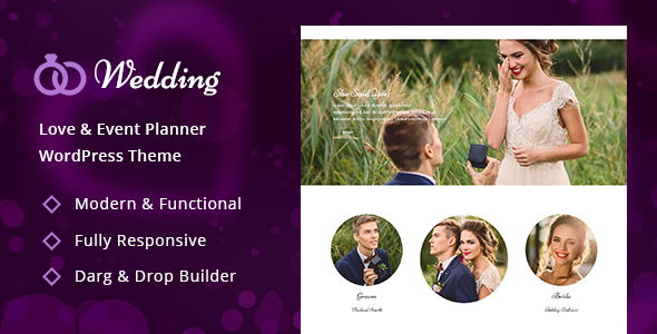 Wedding - Wedding & Wedding Planner WordPress Theme